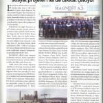 Eskişehir Sanayi Odası dergisi Haziran'14 sayısı